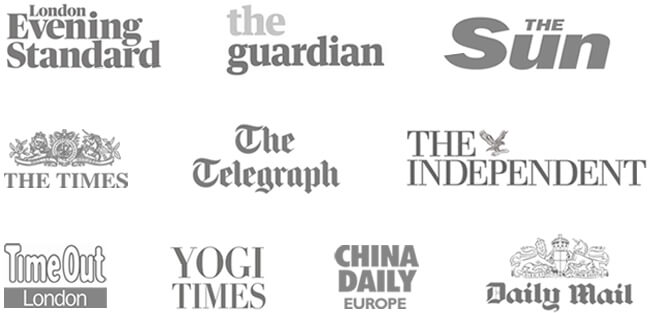 The Times, The Guardian, The Telegraph, Daily Mail, The Independent, The Sun, TimeOut London, China Daily Europe